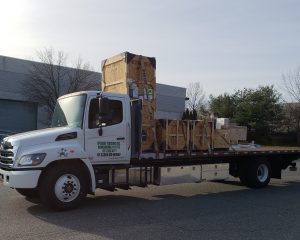 Trucking balwin , freight, pick up, mcguire trucking, delivery, crate, cargo