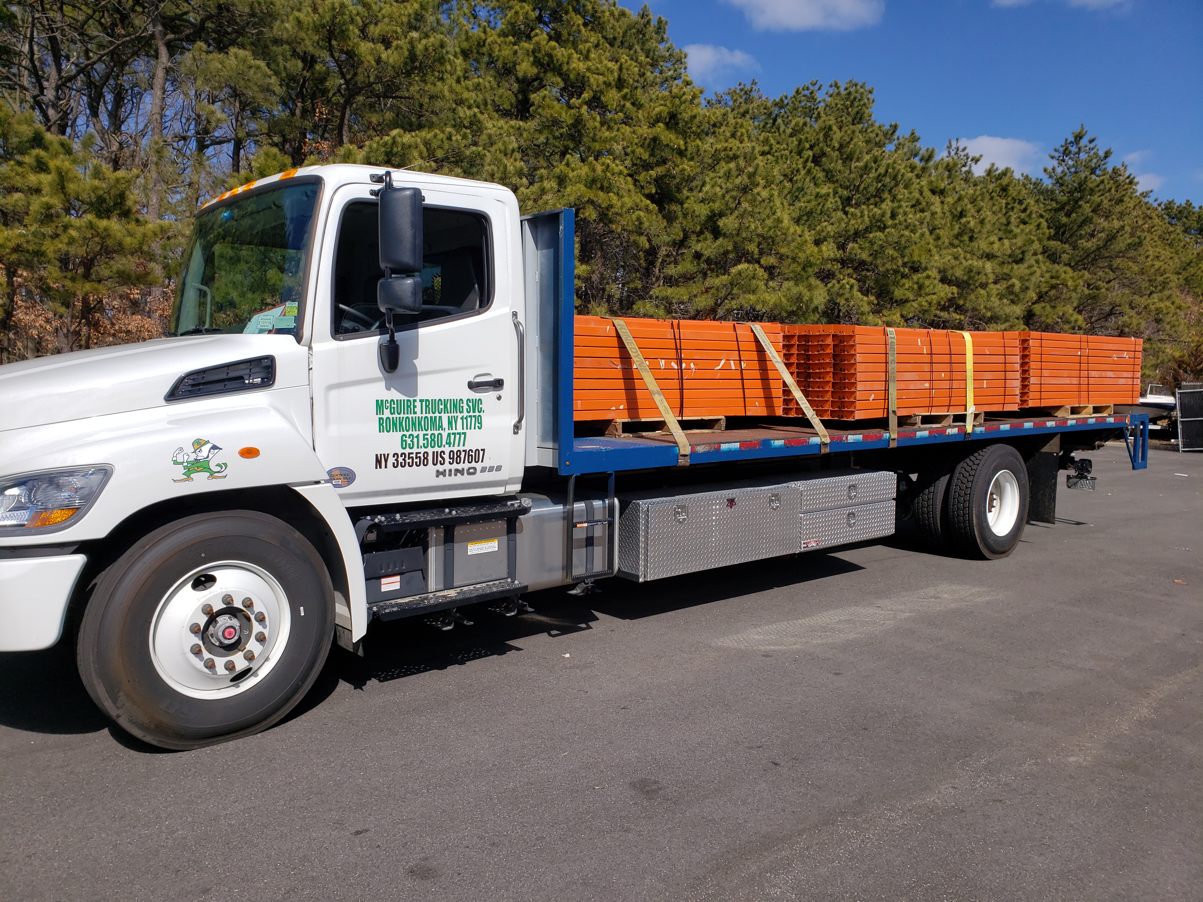 Flatbed Trucking Delivery Long island Queens Brooklyn Bronx Manhattan NYC